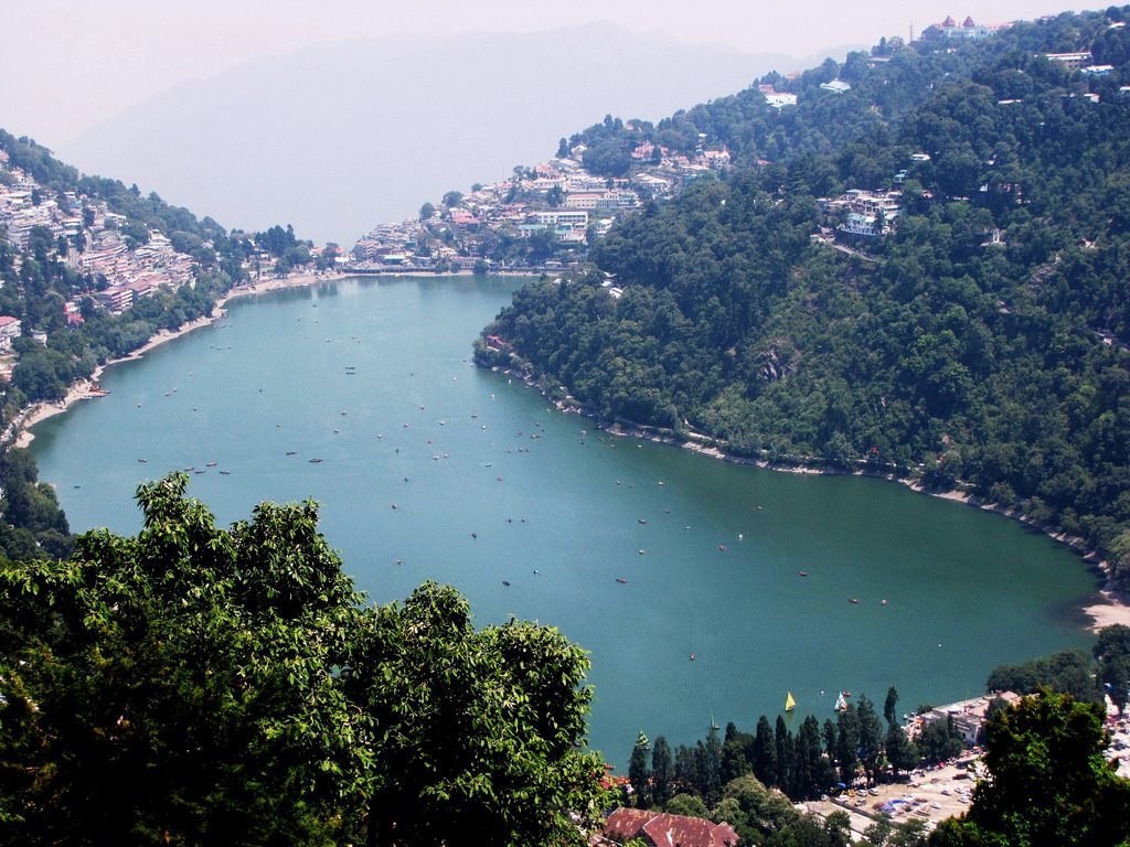 nainital lake- hill station in india